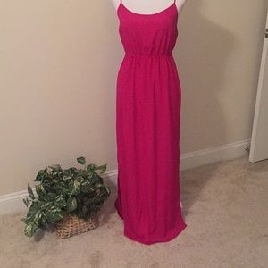Old Navy maxi dress In fuschia.  NWT
